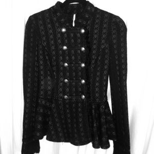 Free People Long Sleeve Button Across Blouse